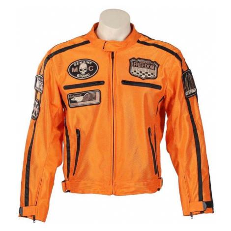 Letní moto bunda BOS 6488 oranžová Barva oranžová