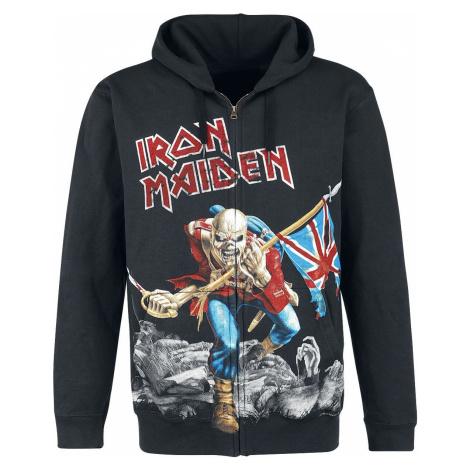 Iron Maiden The Trooper - Battlefield mikina s kapucí na zip černá
