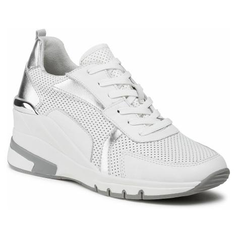 Sneakersy CAPRICE - 9-23722-26 White/Slv Comb 123