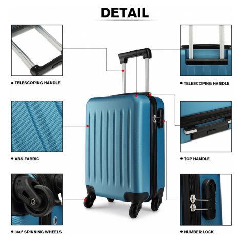 Modrý cestovní kvalitní prostorný velký kufr Bartie Lulu Bags