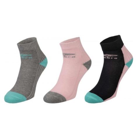 Umbro SPORT SOCKS 3P růžová - Dětské ponožky