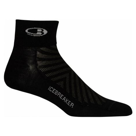 Pánské ponožky ICEBREAKER Mens Run+_Ultralight Mini, Black/Slate (vzorek) Icebreaker Merino