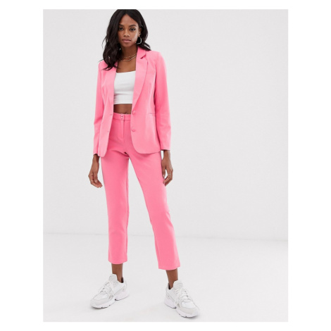 Unique21 tailored cropped cigarette trousers-Pink