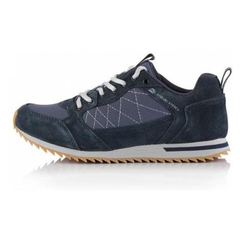 Peredur modrá kožená obuv s antibakteriální stélkou ALPINE PRO