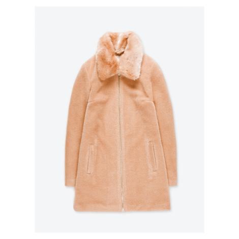 GATE Kabát na zip s odepínatelním límcem z umělé kožešiny