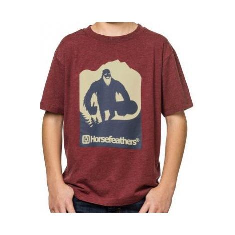 Dětské tričko Horsefeathers Yeti Kids heather wine