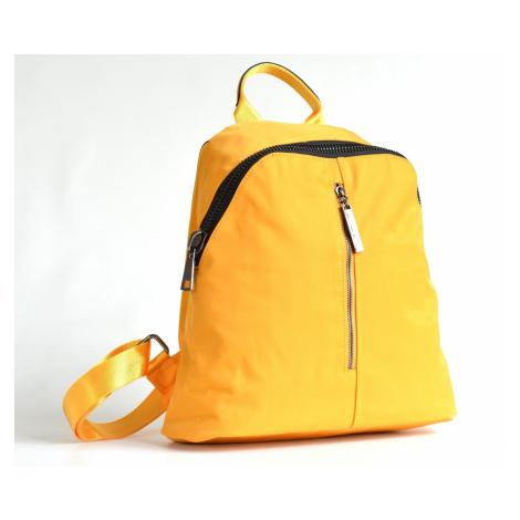 Bright Krásný elegantní batoh A5 látkový s maxi zipem a kapsou žlutý, 32 x 13 x 31 (BR17-W117-81