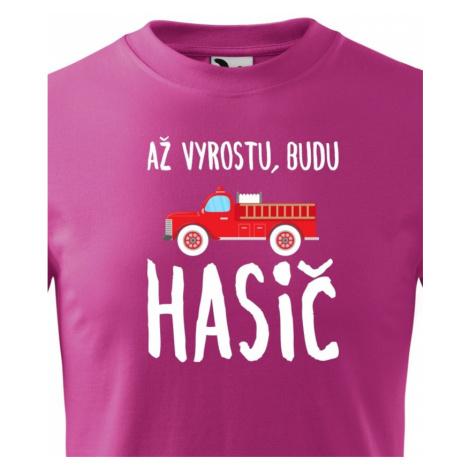 Dětské tričko Až vyrostu, budu hasič BezvaTriko