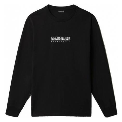 Napapijri Napapijri černé unisex tričko s dlouhým rukávem NASAN 2