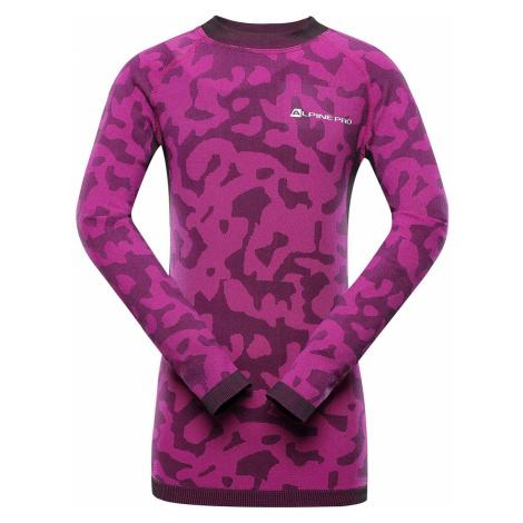 ALPINE PRO EVADO Dětské spodní triko dlouhý rukáv KUNS024411PB fuchsiová