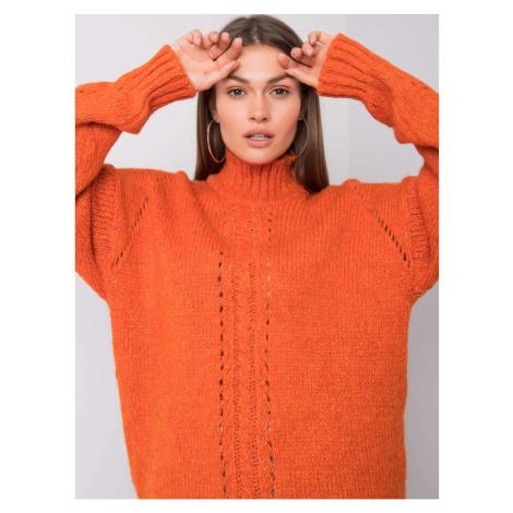 RUE PARIS Ladies´ orange turtleneck sweater Fashionhunters