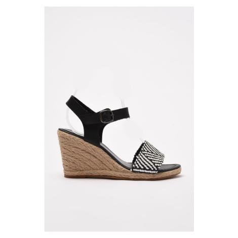 Trendyol Black Women's Wedge Heeled Shoes