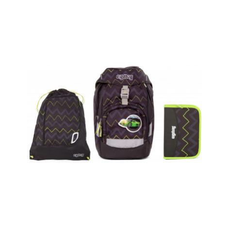 Školní set Ergobag prime Černý Zig zag - batoh + penál + sportovní pytel