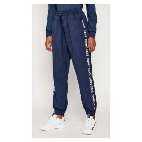 Tommy Jeans dámské modré kalhoty Tommy Hilfiger