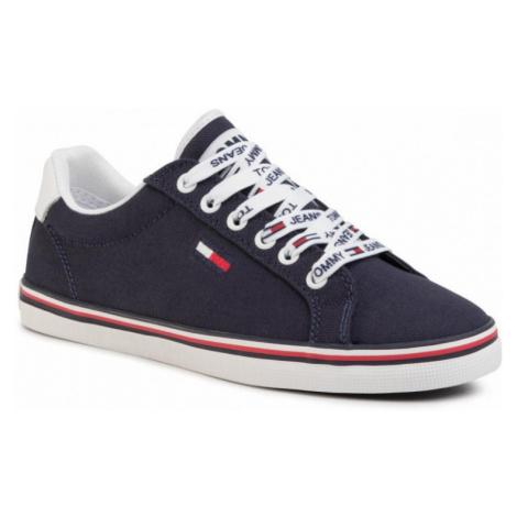 Tommy Hilfiger Tommy Jeans dámské tmavě modré plátěné tenisky ESSENTIAL