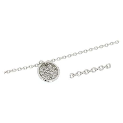 Stříbrný dámský náramek se zirkony WTB0157