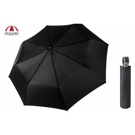 Luxusní černý vzorovaný deštník pro pány Doppler FIBER MAGIC PREMIUM