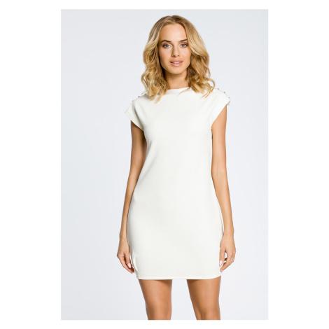 Smetanové šaty MOE 028