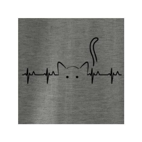 Kočka EKG - Mikina dámská Cape s kapucí