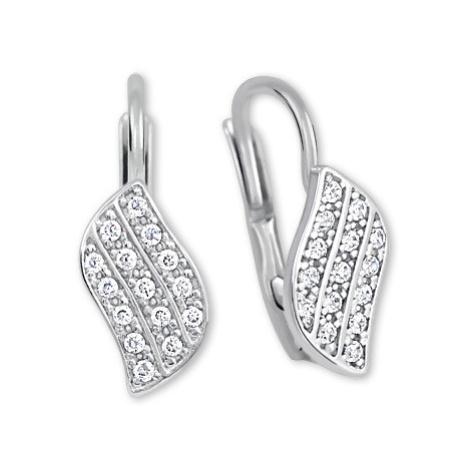 Brilio Zářivé náušnice z bílého zlata s krystaly 239 001 00648 07