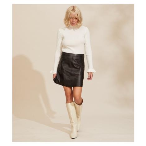 Sukně Odd Molly Victoria Leather Skirt - Černá