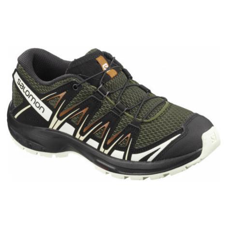 Salomon XA PRO 3D J tmavě zelená - Dětské sportovní boty