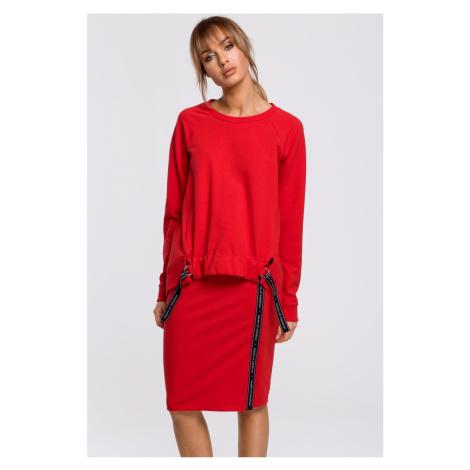 Červená sukně M494 Moe