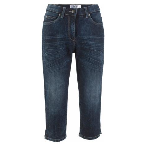 Strečové džíny Capri s pohodlnou pasovkou, vzhled Used Bonprix