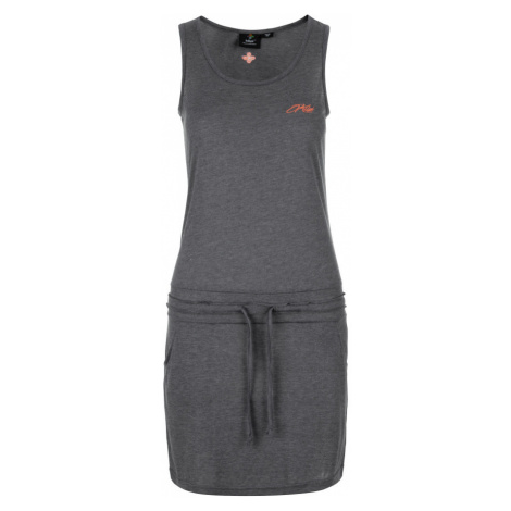 KILPI Dámské šaty MAZAMET-W KL0218KIDGY Tmavě šedá