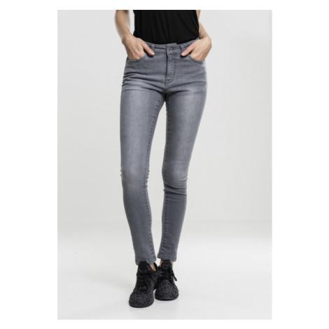 Urban Classics Ladies Skinny Denim Pants grey