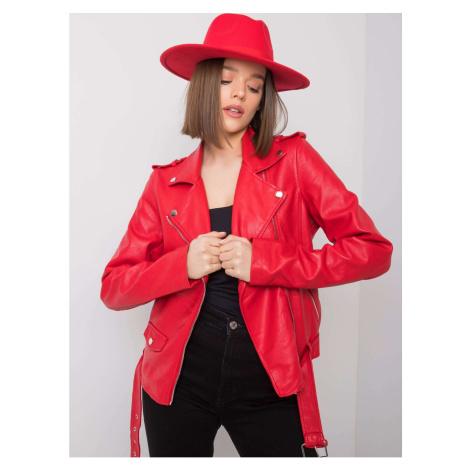 Red eco-leather biker jacket Fashionhunters