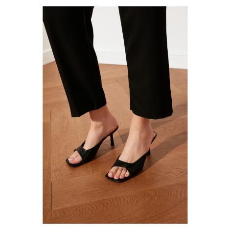 Trendyol Black Blunt Nosed Women's Slippers