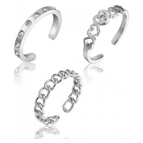 Emily Westwood Stylová sada ocelových prstenů WS047S