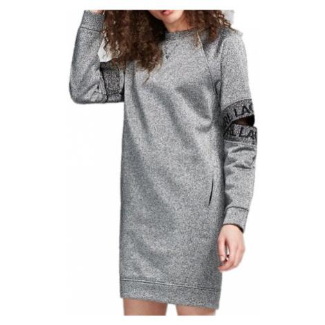 Stříbrno-šedé šaty KARL LAGERFELD