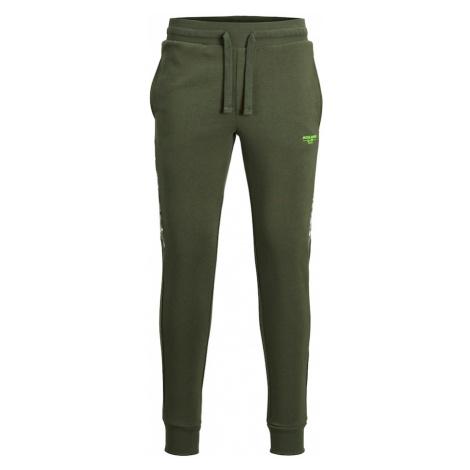 Jack & Jones Junior Kalhoty tmavě zelená