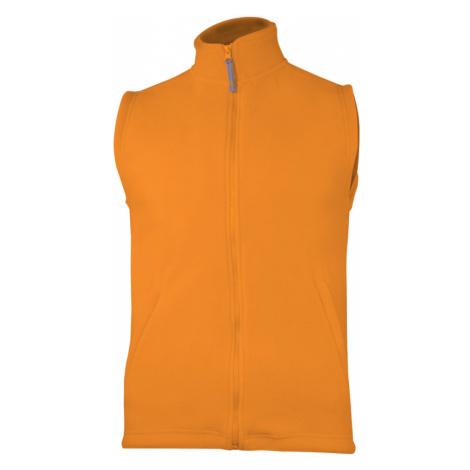 Fleecová unisex vesta - Oranžová