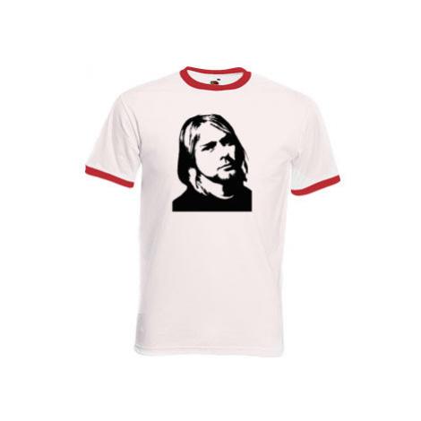 Pánské tričko s kontrastními lemy Kurt Cobain