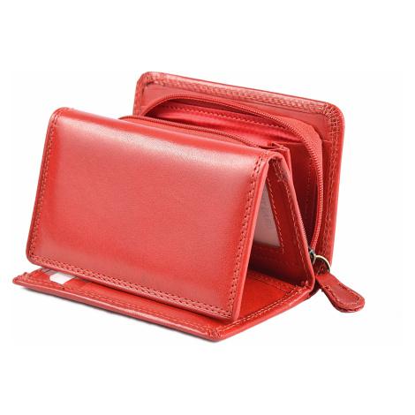 Dámská kožená peněženka na výšku se zipem na mince červená, 9 x 0 x 12 (SB00-V908-00KUZ)
