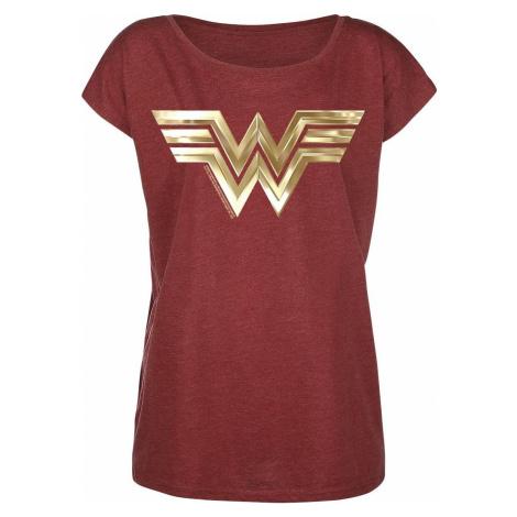 Wonder Woman Golden Symbol Dámské tričko směs červené
