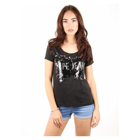Pepe Jeans dámské černé tričko