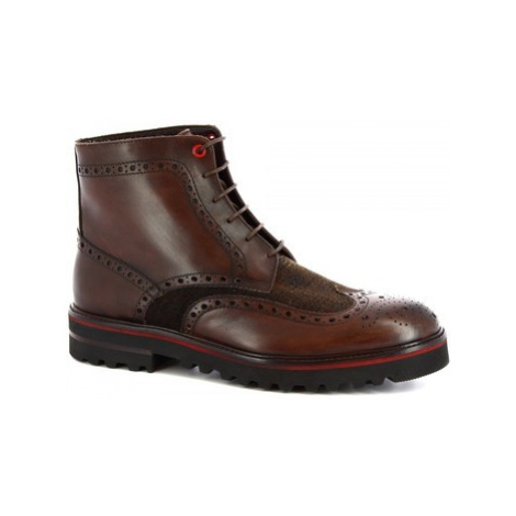 Leonardo Shoes M631-24 S. F CALF/SEVENTY/T. MORO Hnědá