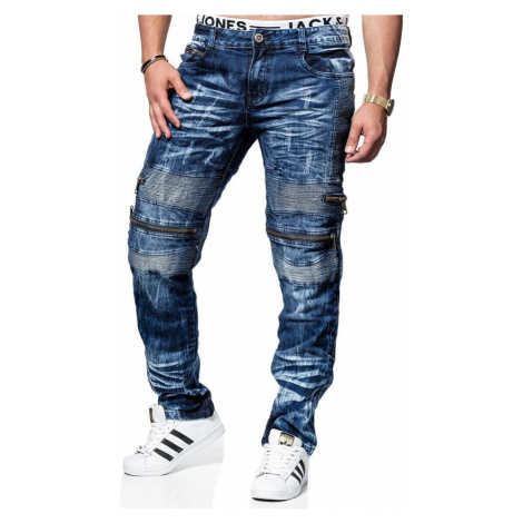 KOSMO LUPO kalhoty pánské KM131 jeans džíny biker