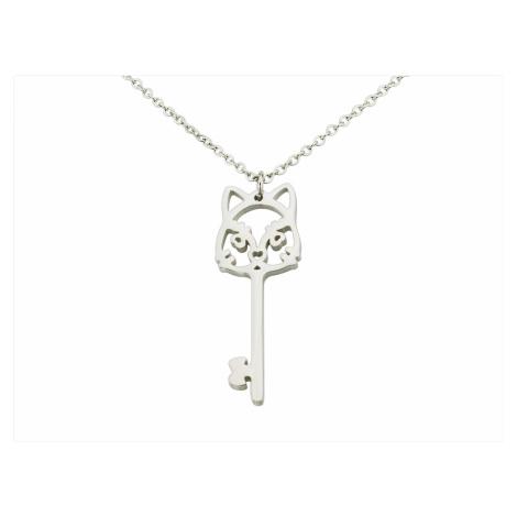 Linda's Jewelry Náhrdelník Kočičí Klíč chirurgická ocel INH008