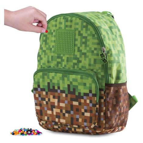 PIXIE CREW volnočasový batoh MINECRAFT zeleno-hnědý