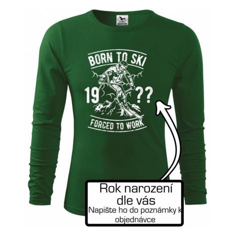 Born To Ski (vlastní ročník) - Triko s dlouhým rukávem FIT-T long sleeve