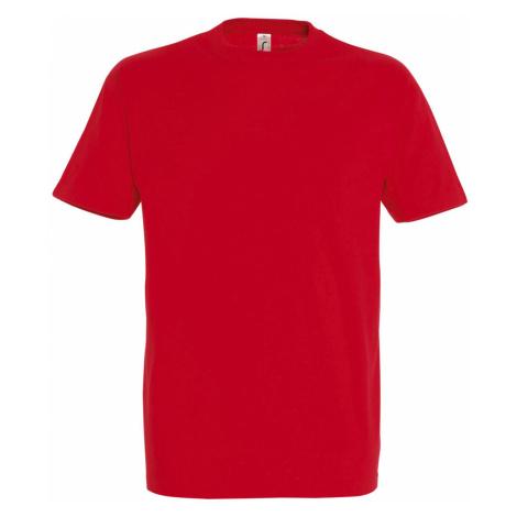 SOĽS Pánské triko s krátkým rukávem IMPERIAL 11500145 Red SOL'S
