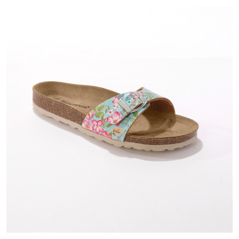 Blancheporte Ploché pantofle se sponou, tyrkysové tyrkysová