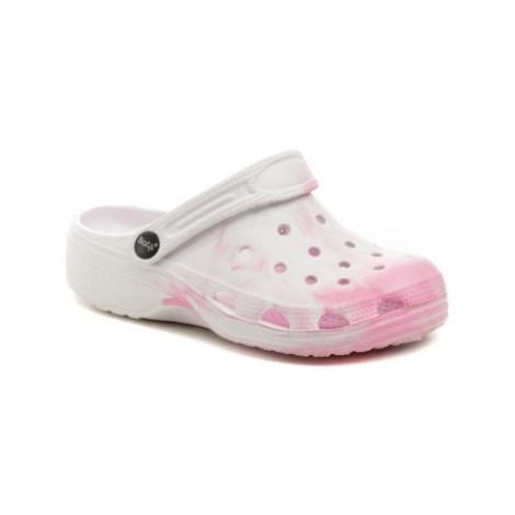 Cortina.be Slobby 192-0018-F1 růžové nazouváky crocsy Bílá