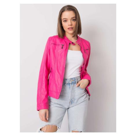 Růžová dámská koženková bunda se zipy NM-DE-KR-FF001.16X-pink BASIC