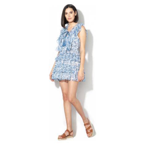 Pepe Jeans dámské bílomodré květované šaty Magali